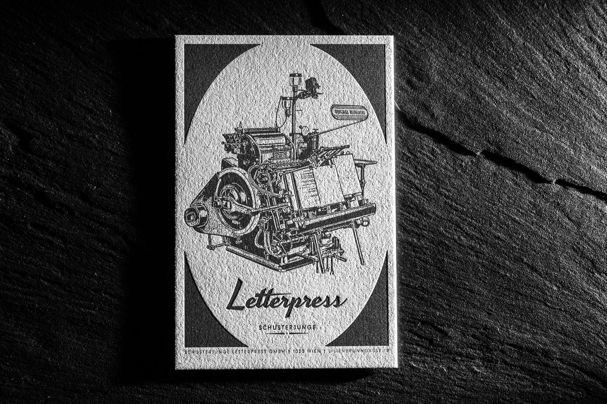Schusterjunge Schusterjunge Letterpress